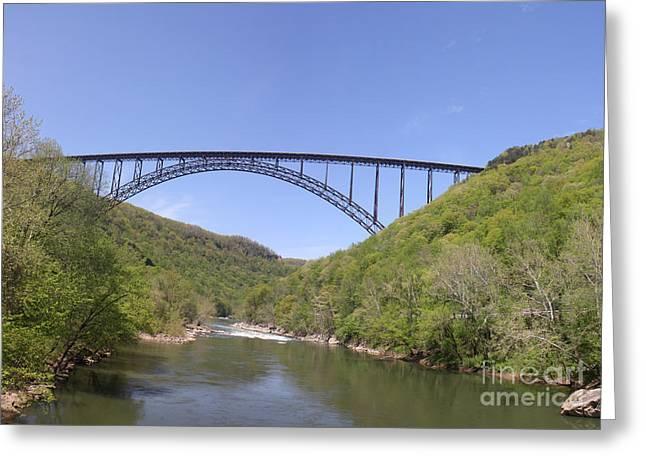 U.s. Steel Greeting Cards - New River Gorge Bridge Greeting Card by Teresa Mucha