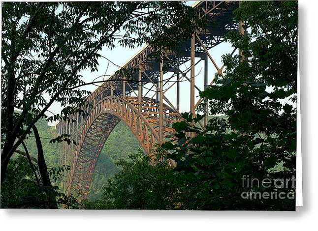 Allegheny Mountains Greeting Cards - New River Gorge Bridge  Greeting Card by Thomas R Fletcher