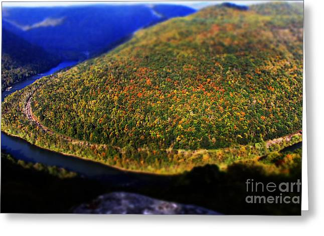 Grandview Greeting Cards - New River Gorge Greeting Card by Melissa Petrey