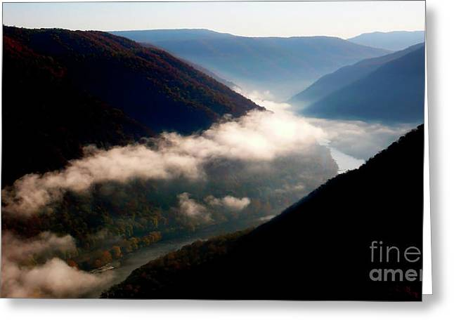 Grandview Greeting Cards - New River Gorge National River                           Greeting Card by Thomas R Fletcher