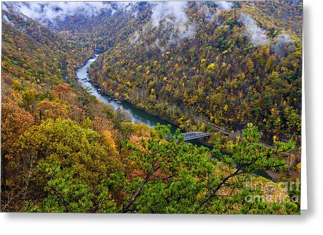 Fayette County Greeting Cards - New River Gorge Greeting Card by Thomas R Fletcher