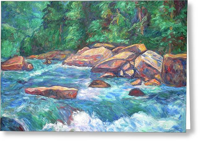Impressionist Greeting Cards - New River Rapids Greeting Card by Kendall Kessler