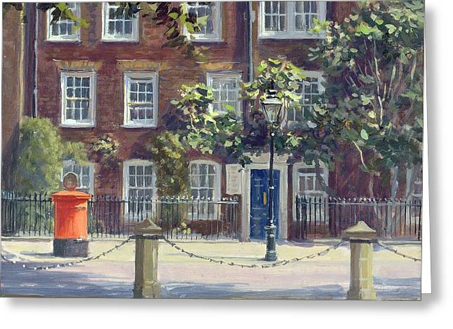 Barrister Greeting Cards - New Square, Lincolns Inn Oil On Canvas Greeting Card by Julian Barrow