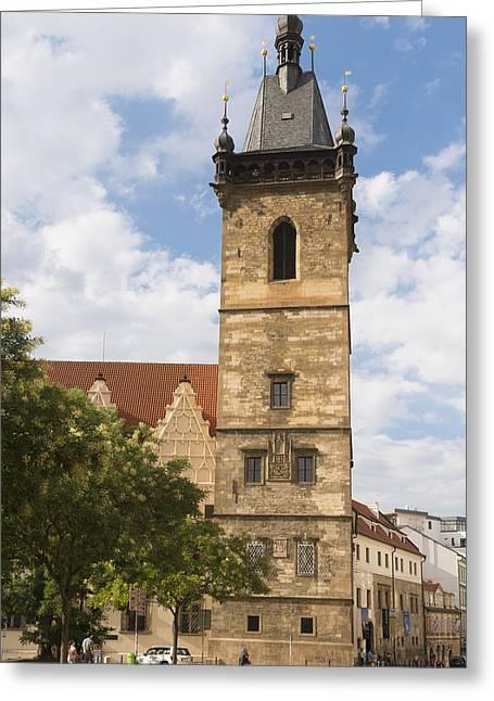 Czech Republik Greeting Cards - New town hall Novomestska radnice Prague Greeting Card by Matthias Hauser