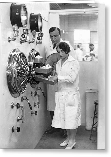 New Type Of Autoclave Greeting Card by Underwood Archives