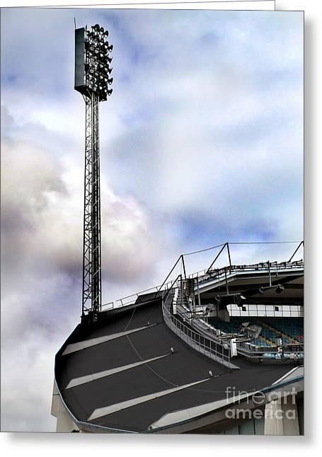 Illuminate Greeting Cards - New Ullevi Stadium 05 Greeting Card by Antony McAulay