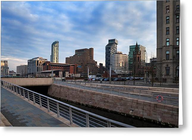 Liver Greeting Cards - New Waterfront Development , Liverpool Greeting Card by Panoramic Images