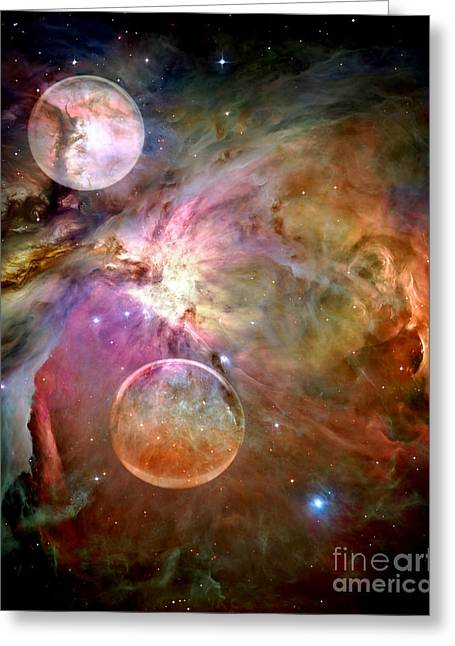 Hubble Telescope Greeting Cards - New Worlds Greeting Card by Photodream Art