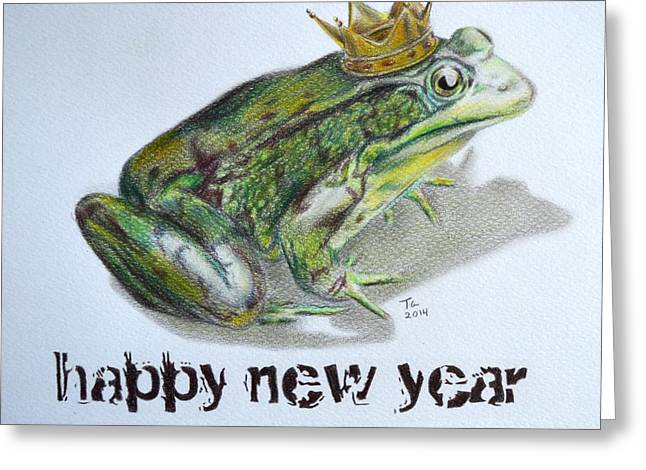 Snowwhite Greeting Cards - New Year Frog Greeting Card by Tiago Azevedo