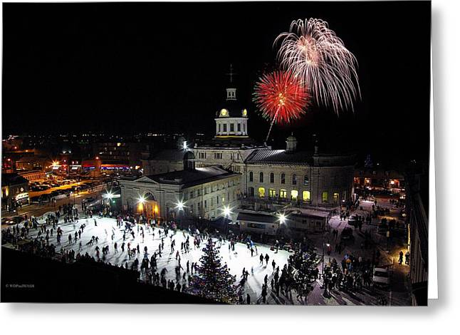 Kingston City Hall Greeting Cards - New Year Rockin In The Clock Greeting Card by Paul Wash