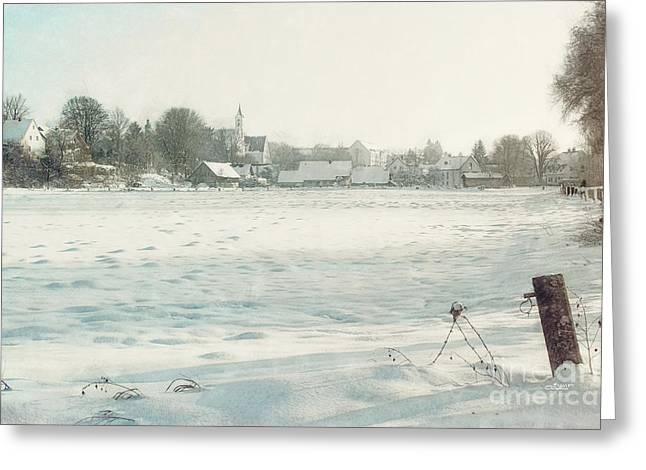 Winter Photos Greeting Cards - New Years Day Greeting Card by Jutta Maria Pusl