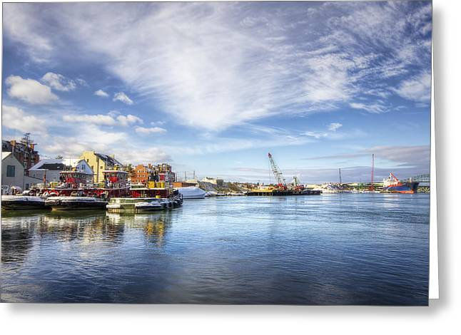 England Town Greeting Cards - New Years in Portsmouth NH Greeting Card by Eric Gendron