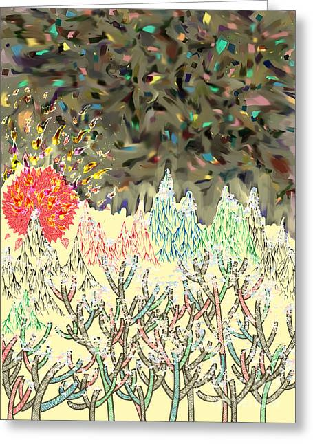 New Mind Greeting Cards - New Years Sunrise Greeting Card by Eun-Hye Yoon