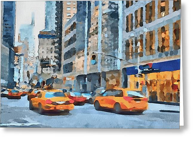 Live Art Greeting Cards - New York 2 Greeting Card by Yury Malkov