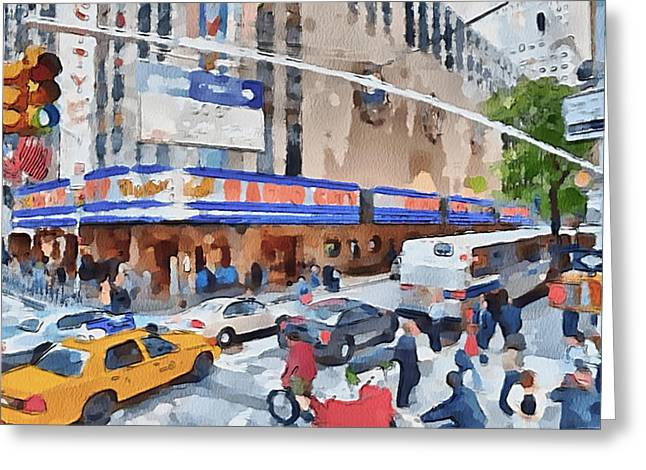 Live Art Greeting Cards - New York 4 Greeting Card by Yury Malkov