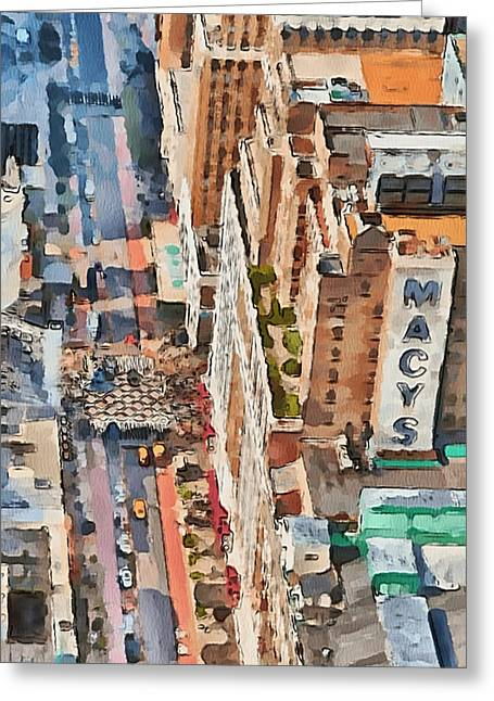 Live Art Greeting Cards - New York 5 Greeting Card by Yury Malkov