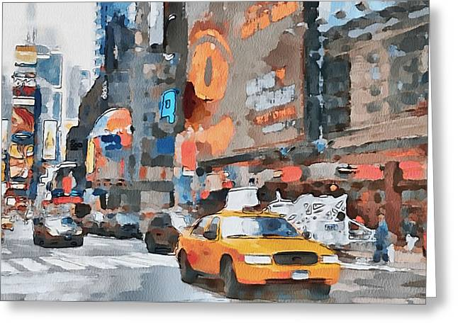 Live Art Greeting Cards - New York 6 Greeting Card by Yury Malkov