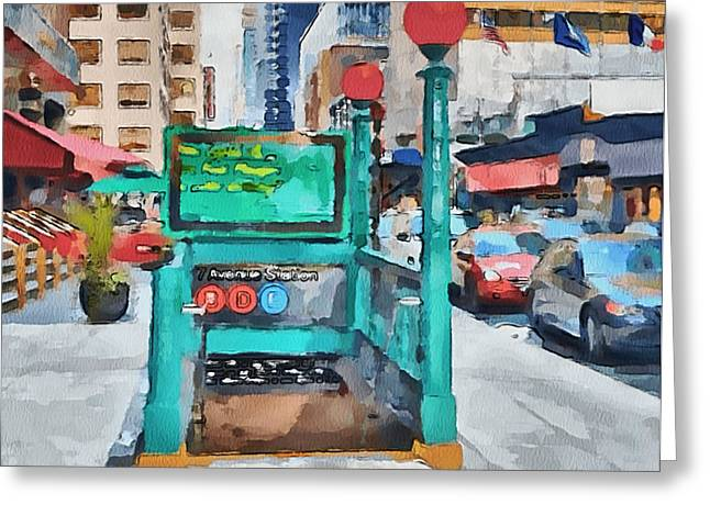 Live Art Greeting Cards - New York 8 Greeting Card by Yury Malkov