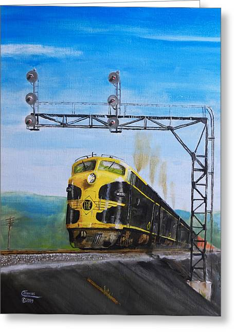 Freight Train Greeting Cards - New York-98 Greeting Card by Christopher Jenkins