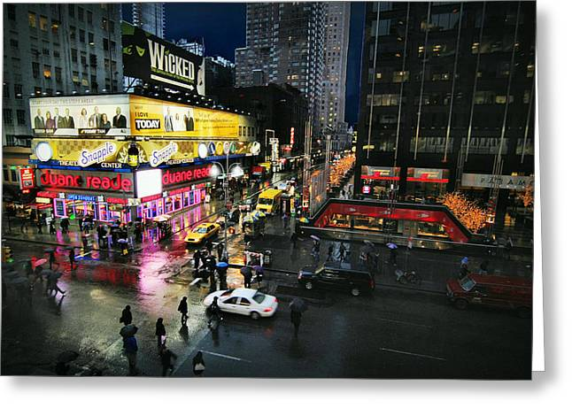 New At Digital Greeting Cards - New York After the Rain Greeting Card by Linda Unger