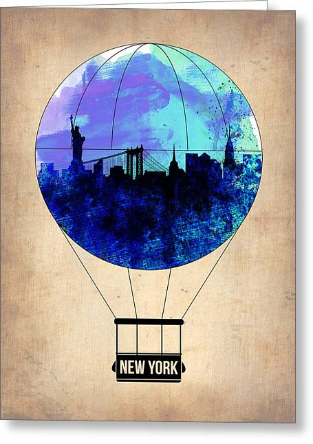 New York Air Balloon 2 Greeting Card by Naxart Studio