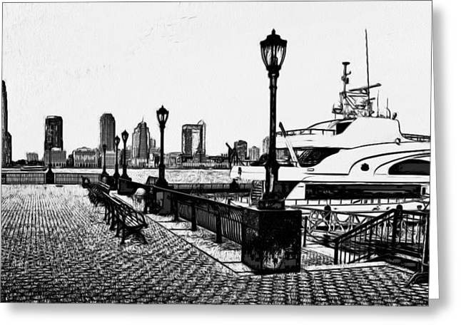 Live Art Greeting Cards - New York Black and White 6 Greeting Card by Yury Malkov