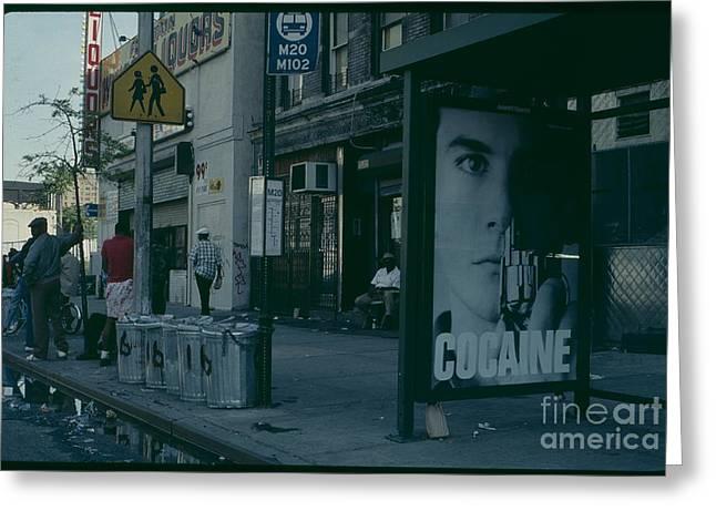 Cocaine Greeting Cards - Cocaine Ad Bronx New York City Greeting Card by Antonio Martinho