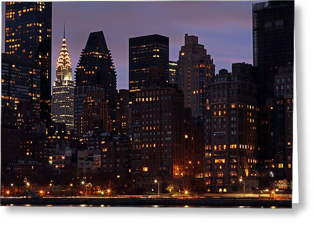 Gotham City Greeting Cards - New York Chrysler Building    Greeting Card by Juergen Roth