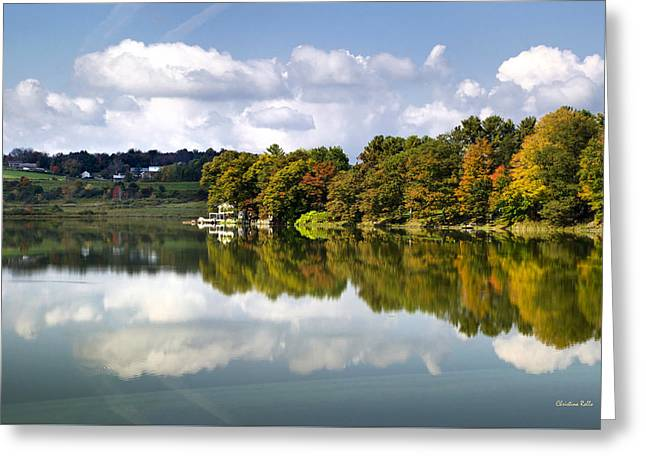 New York Cincinnatus Lake Greeting Card by Christina Rollo
