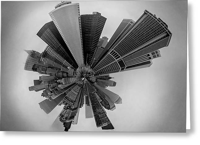 Center City Greeting Cards - New York Circagraph 5 Greeting Card by Az Jackson
