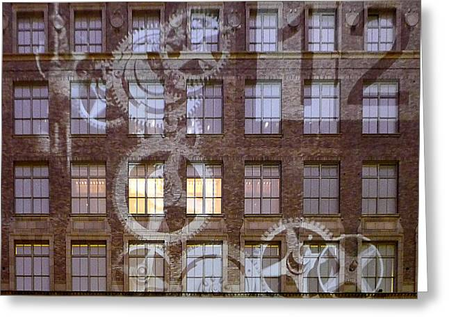 Mechanism Photographs Greeting Cards - New York City - Wall Clock Greeting Card by Richard Reeve