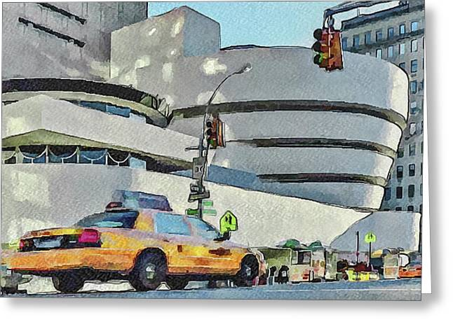 Live Art Greeting Cards - New York City 22 Greeting Card by Yury Malkov