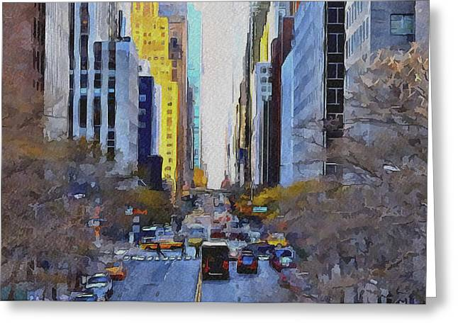 Live Art Greeting Cards - New York City 25 Greeting Card by Yury Malkov