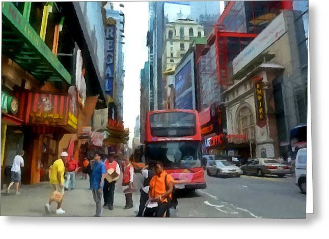 Car Part Paintings Greeting Cards - New York City 6 Greeting Card by Lanjee Chee