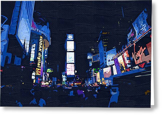 Abstraction Greeting Cards - New York City 62 Greeting Card by Victor Gladkiy