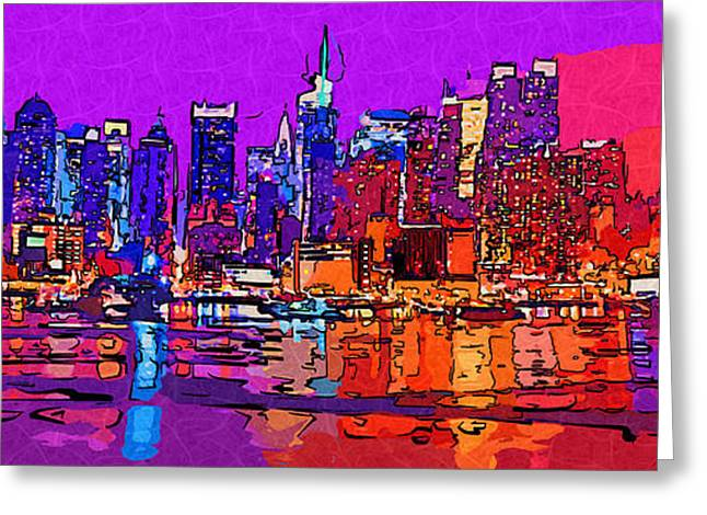 Abstractions Greeting Cards - New York City 83 Greeting Card by Victor Gladkiy