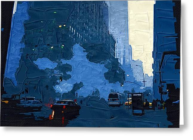 Abstraction Greeting Cards - New York City 90 Greeting Card by Victor Gladkiy