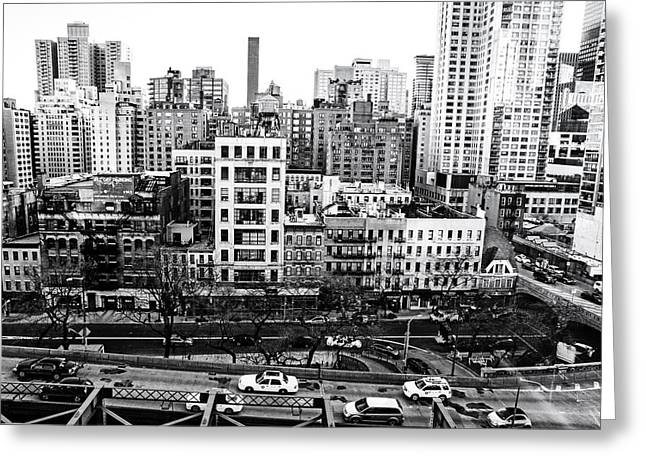 Nyc Architecture Greeting Cards - New York City - Above it All Greeting Card by Vivienne Gucwa