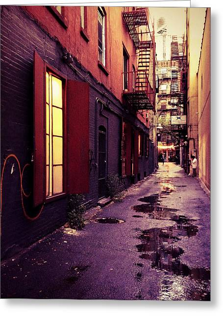 Alleys Greeting Cards - New York City Alley Greeting Card by Vivienne Gucwa