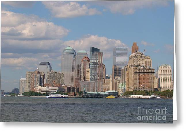 Bay Greeting Cards - New York City Greeting Card by Anthony Morretta