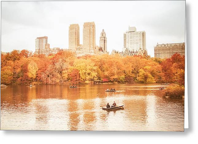 Central Park Photo Greeting Cards - New York City - Autumn - Central Park Greeting Card by Vivienne Gucwa