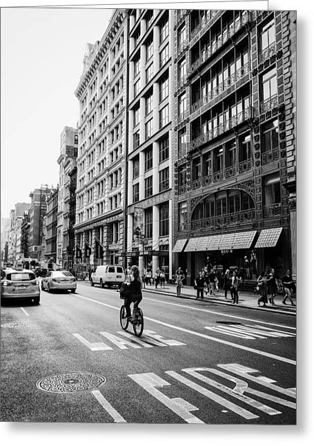 Sony Greeting Cards - New York City Bicycle Ride - Soho Greeting Card by Vivienne Gucwa