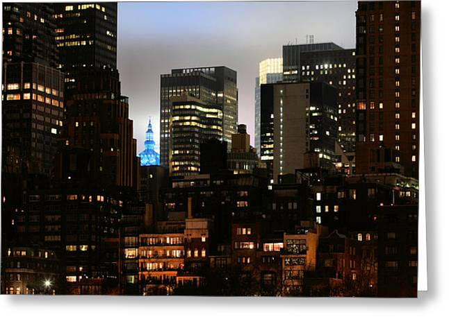 New York City Blue Greeting Card by JC Findley