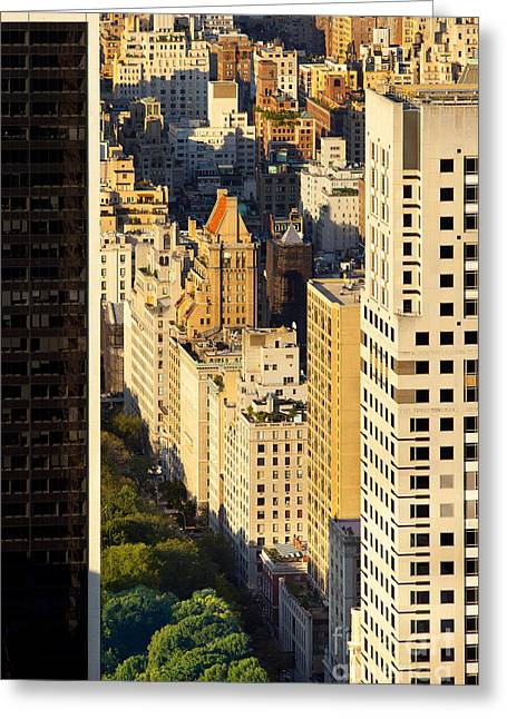 5th Ave Greeting Cards - New York City Greeting Card by Brian Jannsen