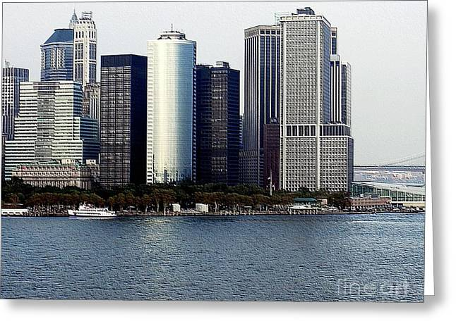 Struckle Greeting Cards - New York City Buildings Greeting Card by Kathleen Struckle