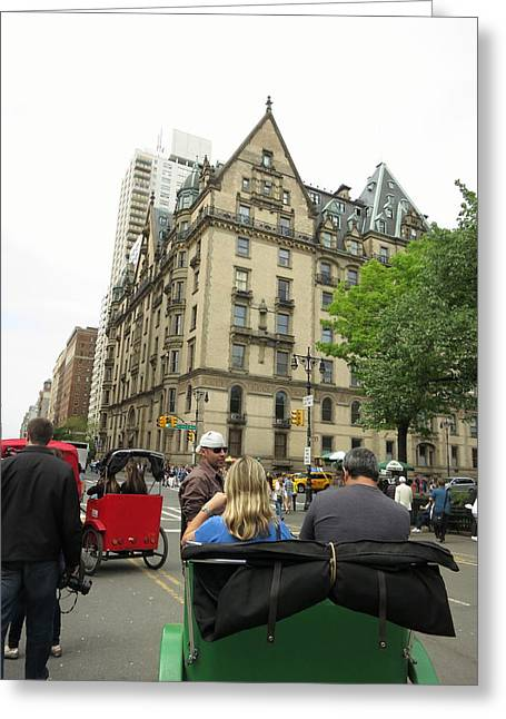 Carriage Greeting Cards - New York City - Central Park - 121219 Greeting Card by DC Photographer