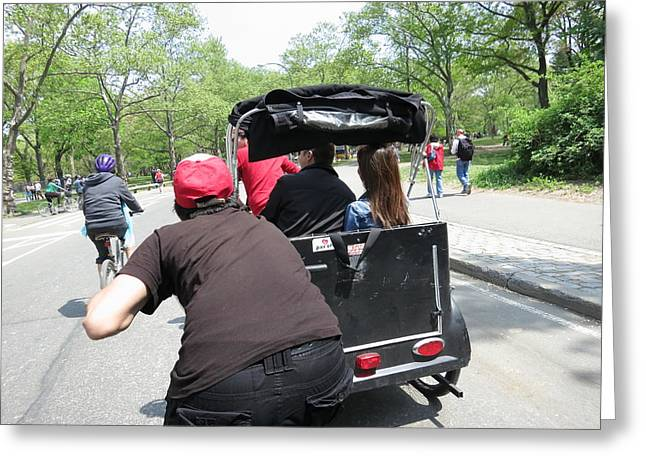 Carriage Greeting Cards - New York City - Central Park - 12125 Greeting Card by DC Photographer