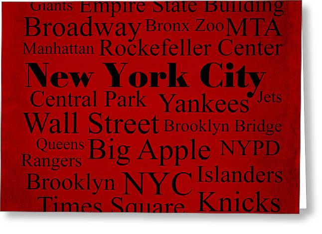 New York City Greeting Card by Denyse and Laura Design Studio