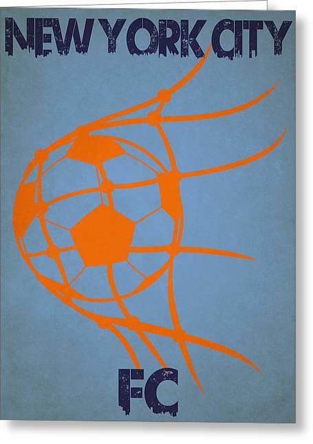 New York City Fc Goal Greeting Card by Joe Hamilton