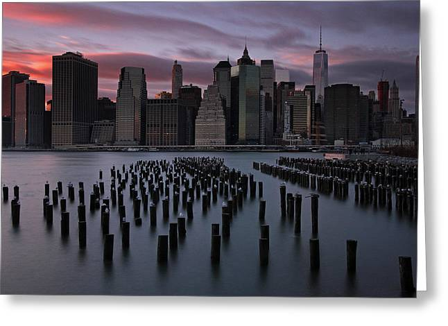 Gotham City Greeting Cards - New York City FIDI Greeting Card by Juergen Roth